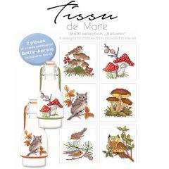 Tissu de Marie Embr. kit bottle-aprons 10x15cm white - 2pcs