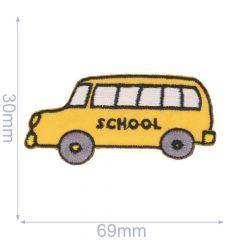 Iron-on patches School bus - 5pcs