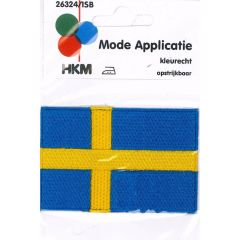 Iron-on patches flag Sweden - 5pcs
