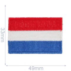 HKM Iron-on Patches Dutch Flag - 5pcs