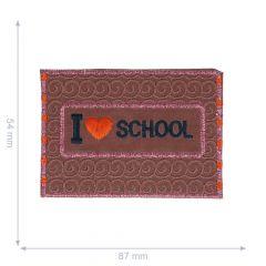HKM Iron-on patch reflective I love school - 5pcs