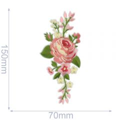 HKM Iron-on patch rose 70x150mm - 5pcs