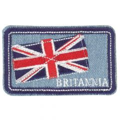 HKM Iron-on patches Britannia and flag jeans - 5pcs