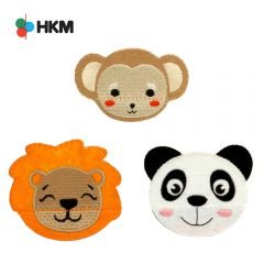 HKM Iron-on patch animal head with opening mouth - 3pcs