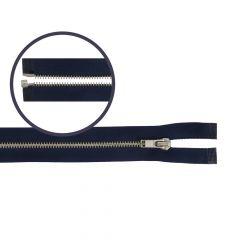 Zipper open-end small 50cm nickel - 5pcs