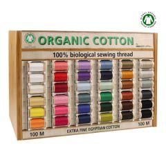 Scanfil Organic cotton display 5x100m - 36 colours - 1pc