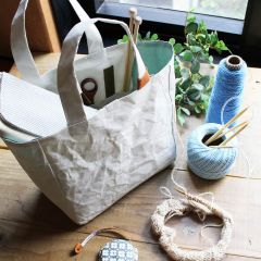 Cohana Washi project bag hand-dyed 22x22x12cm - 1pc