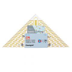 Prym Omnigrid quick triangle ruler 1/4 - 1/2 square - 3pcs