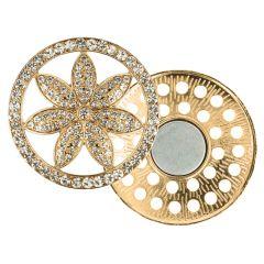 Decorative brooch magnetic flower 45mm - 3pcs
