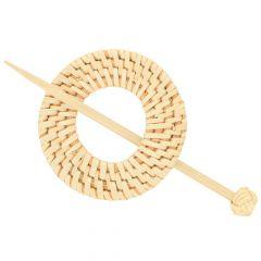 Shawl pin bamboo 80mm - 5pcs