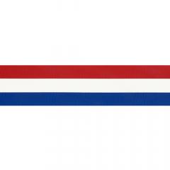 Woven ribbon Dutch flag 10-100mm - 25m