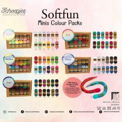 Scheepjes Softfun colour pack 12x20g - 5x2pcs - AST