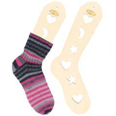 Wooden sock blockers pair size S-L natural - 2pcs