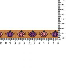 Woven ribbon ladybug 17mm - 25m