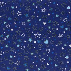 Tissu de Marie Fabric stars-hearts cotton 1.50m - 10m