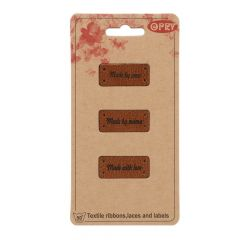 Opry Leatherette label made by-with - 5x3pcs