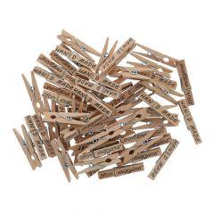 Scheepjes Clothes pegs wood 35-45mm - 50pcs