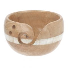 Scheepjes Yarn bowl mango wood and pearl 15x9cm - 1pc