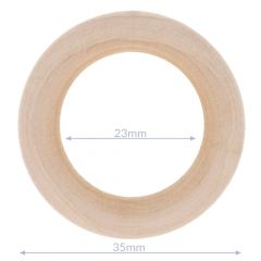 Wooden rings natural outer diameter 34-100mm - 5pcs
