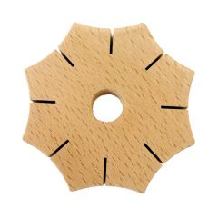 Wooden braiding star - 5pcs