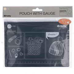 Tulip Pouch with gauge and knitting accessories - 3pcs