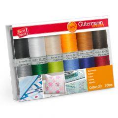 Gütermann Sewing thread set Cotton no.30 12x300m - 1pc