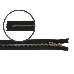 Closed end zipper 16cm antique - 10pcs - 580