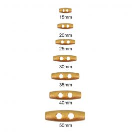 Brown Duffel Coat Toggle Wooden Button 50mm 50pcs