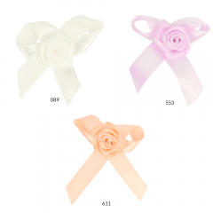 Rose with bow 10mm - 50pcs