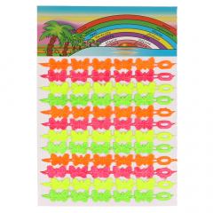 Ribbon with butterflies neon colours - 3pcs
