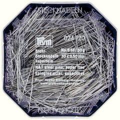Prym Headpins steel 0.50x30mm silver - 10pcs