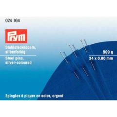 Prym Headpins steel 0.60x34mm silver - 1pc
