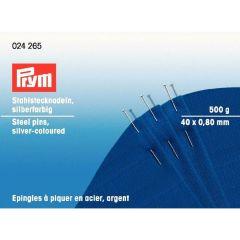 Prym Pins steel 0.80x40mm silver - 1pc