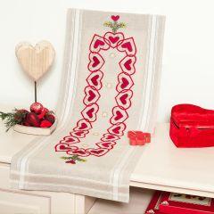 Tissu de Marie Embroidery kit table topper 40x100cm - 1pc