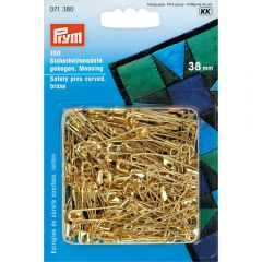 Prym Safety pins curved gold - 5pcs