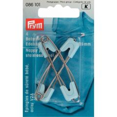 Prym Nappy safety pins stainless steel 55mm - 5x4pcs