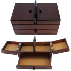 Sewing box dark wood - 1pc