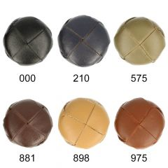 Woven faux leather button size 54 - 25pcs