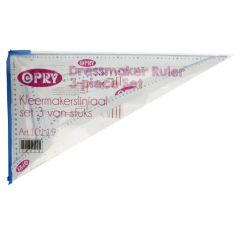 Opry Dressmaker's ruler set - 1x3pcs