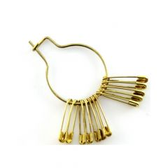 Safety pins 22mm gold - 600pcs