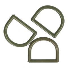 D-rings 30mm plastic grey - 50pcs