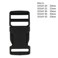 Side-release buckle 16mm - 10pcs