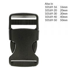 Side-release buckle 25mm - 10pcs