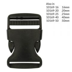 Side-release buckle 30mm - 10pcs
