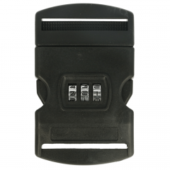 Side release buckle with combination lock 50mm black - 10pcs