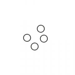 Ring 6mm transparent, black and white - 100pcs
