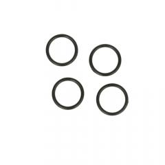 Ring 13mm transparent, black and white - 100pcs