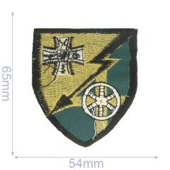 Iron-on patches arms 54x65mm green - 5pcs