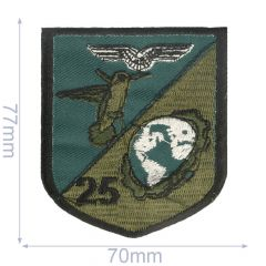 Iron-on patches bird 25 70x77mm green - 5pcs