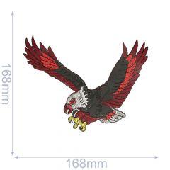 Iron-on patches bird of prey - 5pcs